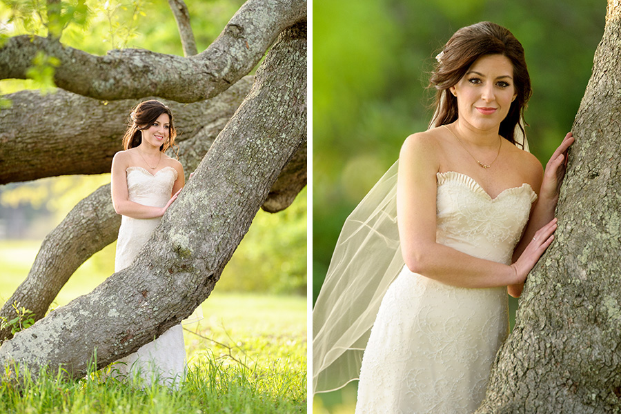 oak hollow farm fairhope alabama bridal portrait