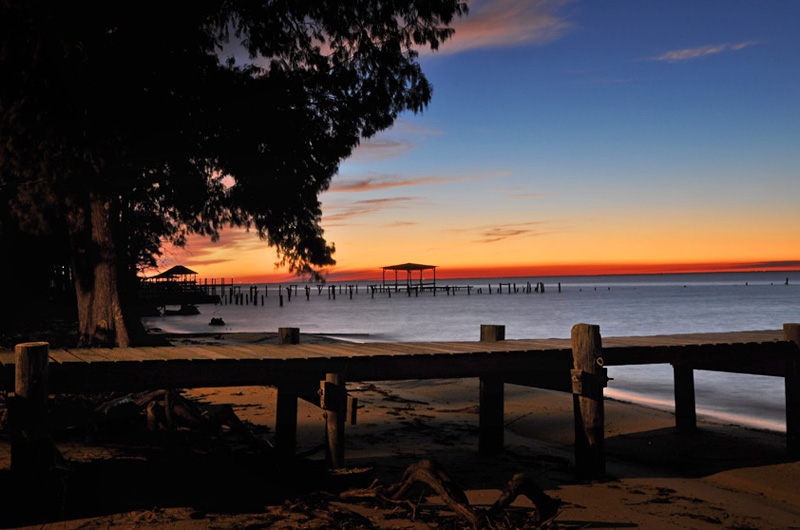 View Of Mobile Bay In Fairhope Alabama