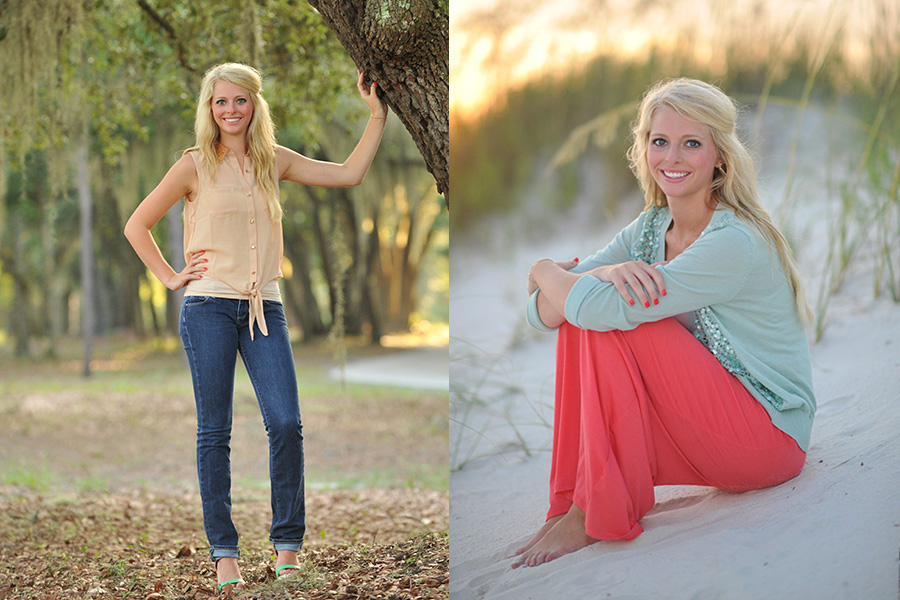 Senior Portraits At The Beach Gulf Shores Photographer